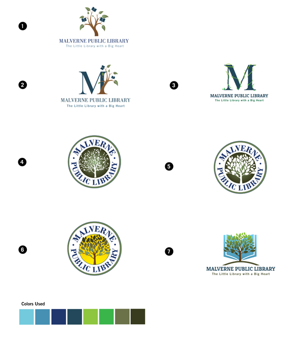 Malverne Logo Options